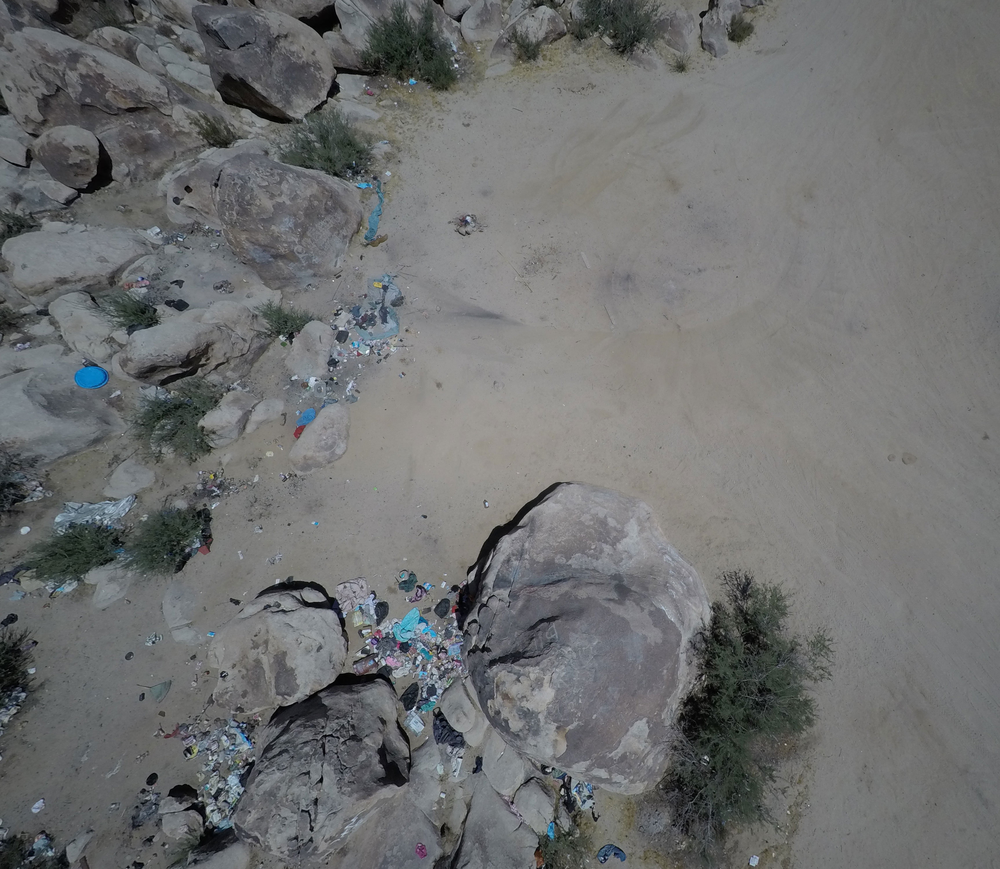 Overview of Abandoned Camp near Giant Rock